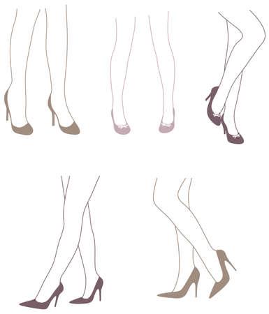 piernas mujer: Ella s Got Legs Vectores