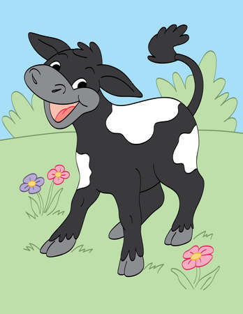 Happy Calf Vector