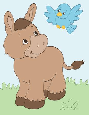 Donkey and Bird