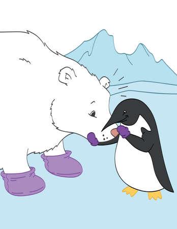 Friends with a Polar Bear
