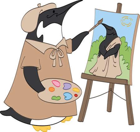 Penguin Schilder