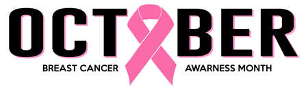 OCTOBER PINK RIBBON BREAST CANCER VECTOR