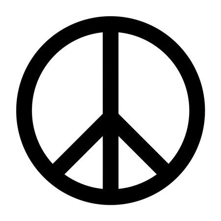 Peace icon fill in black color Vettoriali