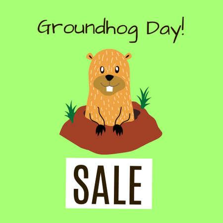 Groundhog Day cards design