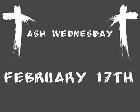 Ash Wednesday design illustration
