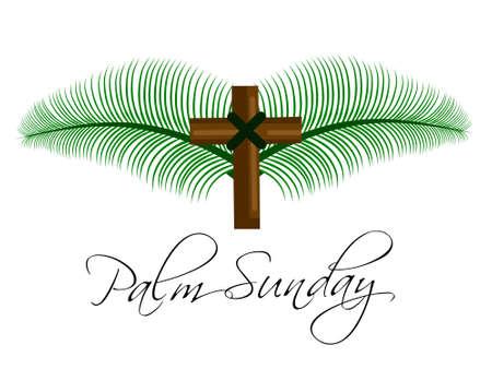 Illustration vector Palm Sunday