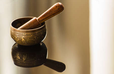 tantra: Tibetan bowl and its reflection