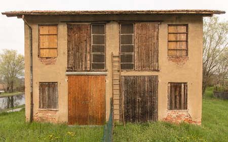 abandoned: Italian abandoned old countryfarm Stock Photo