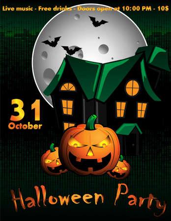 Halloween Flyer Illustration