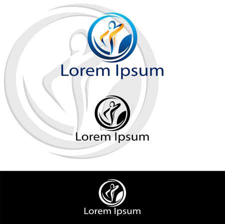 fisioterapia: Icono silueta abstracta para su uso en la industria de la salud