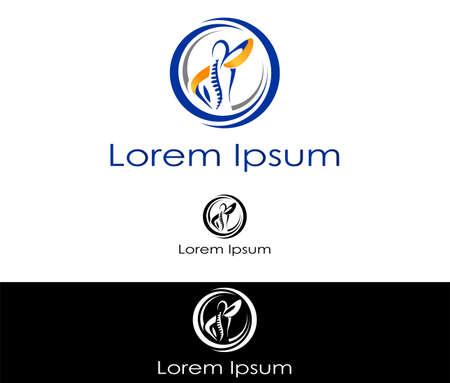 columna vertebral: Icono silueta abstracta para su uso en la industria de la salud