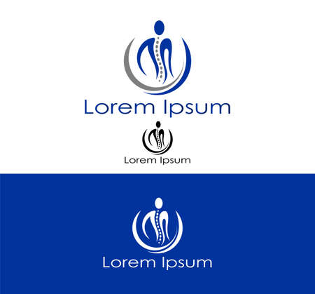 fysiotherapie: Abstract silhouet pictogram voor gebruik in de gezondheidszorg