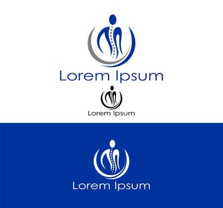 colonna vertebrale: Icona astratta silhouette per l'industria sanitaria