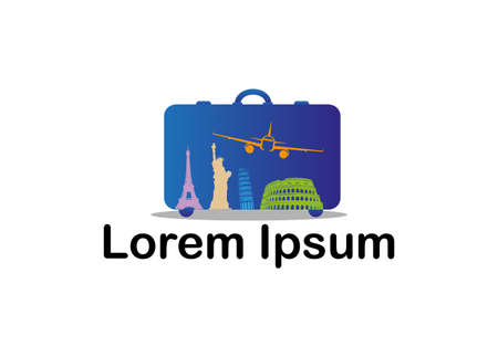agencies: Icon for travel and tourism agencies Illustration