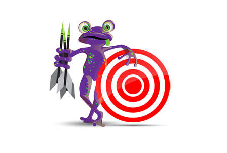 play poison: Darts playing frog