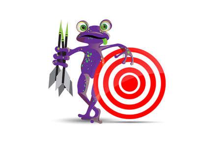 poison dart: Darts playing frog