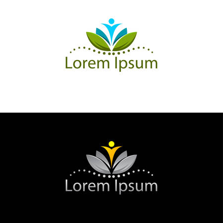 Abstract silhouette icon for use in healthcare industry