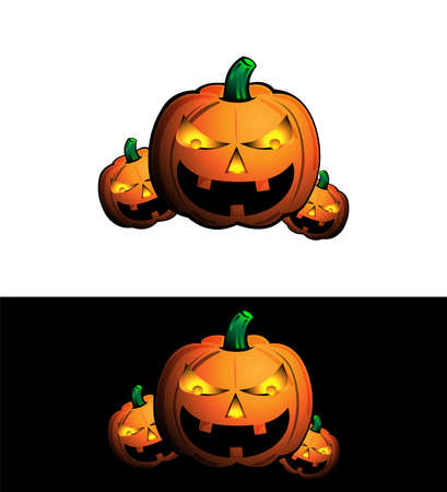 haunted tree: Halloween pumpkin icon Illustration