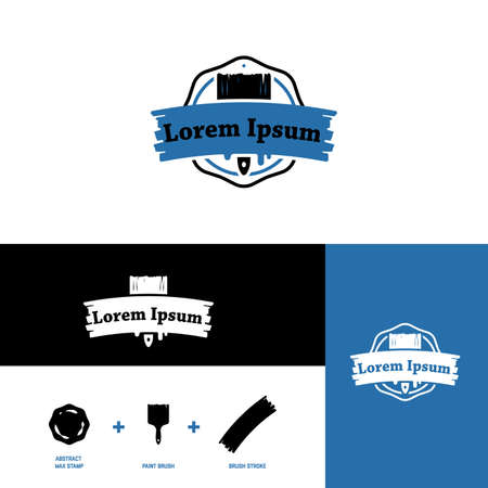 Icon for paint manufacturers, carpenters and wood industry, stylized brush
