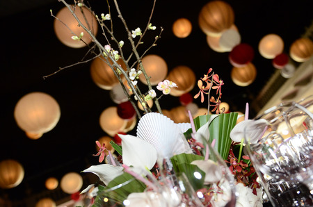 arrangements: Arrangements for banquet Stock Photo