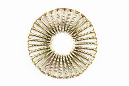 fastening: Wood fastening screws arranged in circle