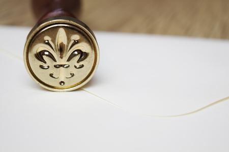 wax stamp: Elegant wax stamp Stock Photo