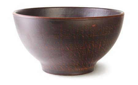 Empty ceramic bowl isolated on white  photo