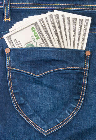 Some Dollars In A Pocket Of Jeans photo