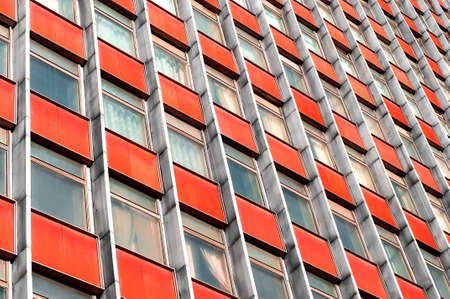 multistory: Multi-story office building with terracotta panels