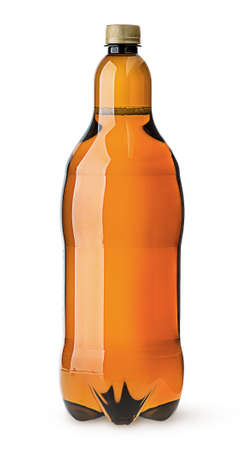 litre: Big plastic bottle with beer
