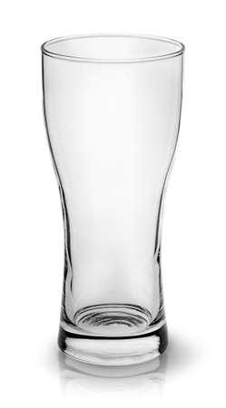 Leeg klein bierglazen bovenaanzicht