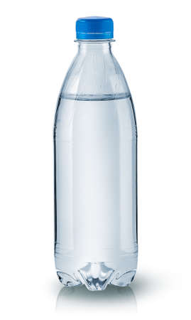 Closed plastic water bottle