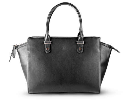 Ladies black leather bag