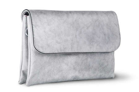 Elegant gray female clutch bag rotated