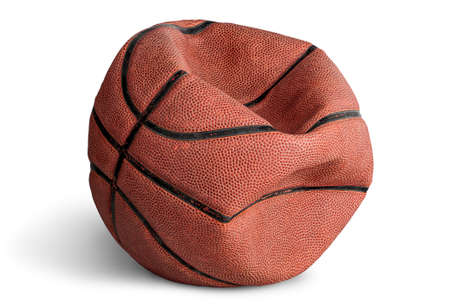 Old deflated basketball