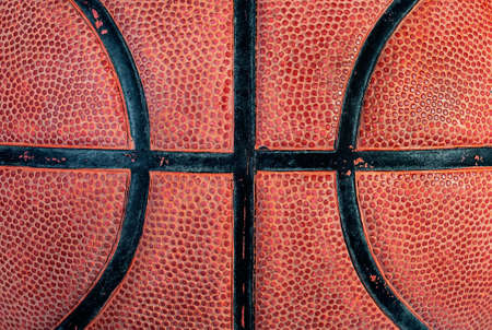 Part of old basketball ball Фото со стока
