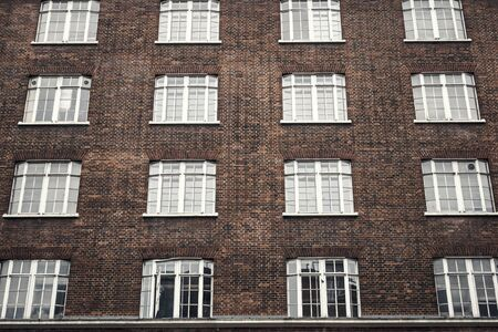 Victorian Building Architectural Pattern Stock Photo