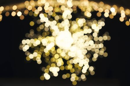 shiny black: abstract Bokeh Background from Christmas decoration