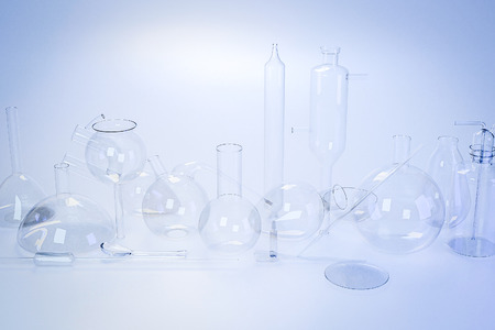 Laboratory medical glassware of chemistry experiments