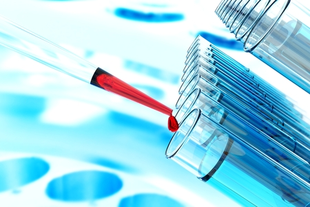 stem cell research pipette science laboratory test tubes  lab glassware, science laboratory research and development concept and gene editing crispr