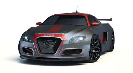 3D rendering of a brand-less generic concept car in studio environment Stock fotó