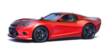 3D rendering of a brand-less generic concept car in studio environment Reklamní fotografie