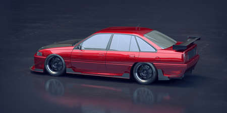 3D rendering of a brand-less generic car