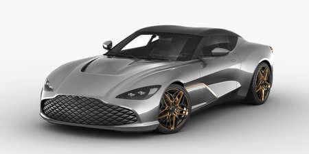 3D rendering of a brand-less generic concept car Reklamní fotografie