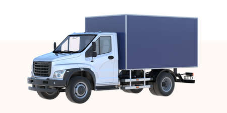 3D rendering of a brand-less generic utility truck Banque d'images