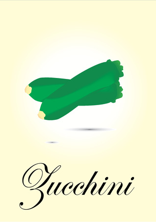 zucchini: Zucchini chart vector illustration Illustration