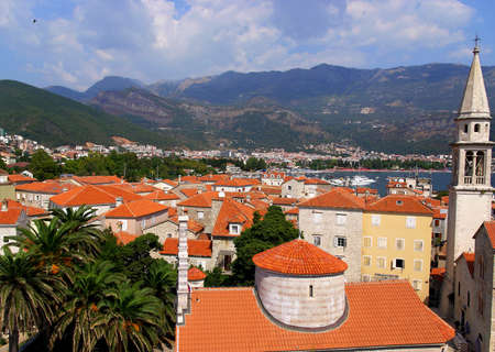 budva: view of old town Stock Photo
