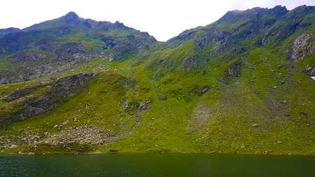 Balea Lake, located in the Fagaras Mountains,Romania