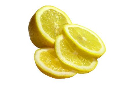 lemon slices: Fette di limone Close-up