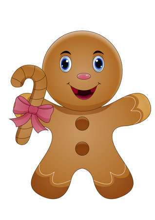 Illustration of Cute Gingerbread Stock Illustratie